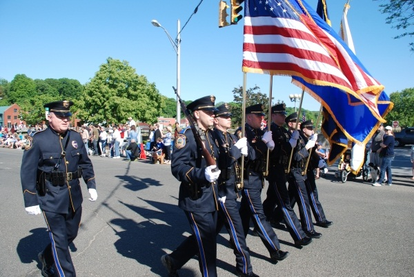 Police Honor Guard at Memorial Day parade in 2013