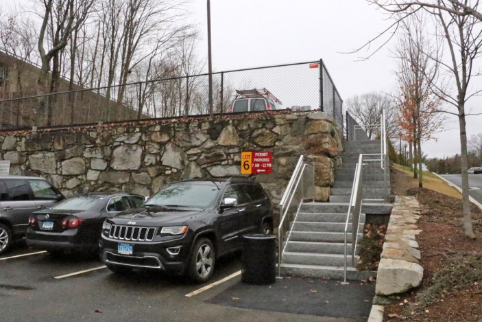 Stairway connecting parking lot 6 with lot 7