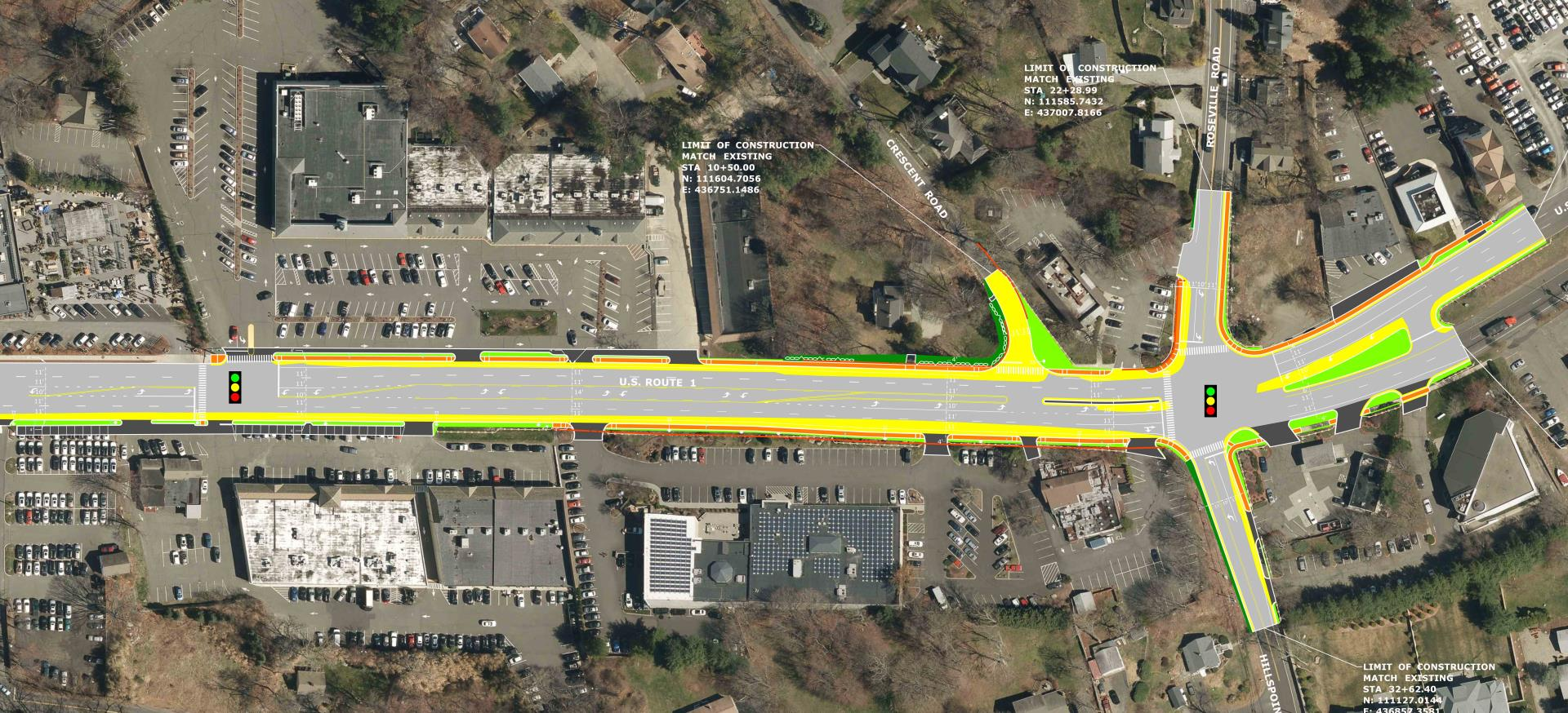 State Project No. 158-215; Intersection Improvements, US 1, Town of Westport