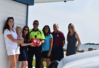 Kings Highway School/In a Heartbeat Present Town with AED for Compo Beach South